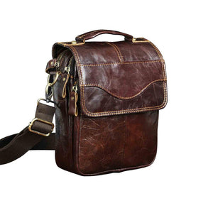 High Quality Original Leather Male Casual Shoulder Messenger bag Cowhide Fashion Cross-body Bag