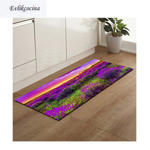 Free Shipping Purple Lavender Anti Slip Bath Mat Door Floor Tapetes Para Casa Sala Carpet For Toliet Non Slip Alfombra Bano