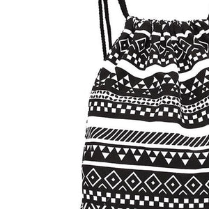 Unisex Retro Geometric Bags Printing Large Capacity Backpacks Fresh Lively Fashion Drawstring Girls Backpack Schoolbag 23Jun 12