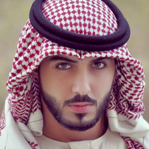Men Muslim Headscarf Plaid Polyester Islamic Traditional Prayer Scarf Hat Cap Hijab Ramadan Shemagh Square Turban 138*138cm