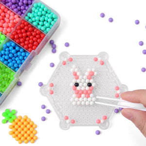 DIY Magic Aqua Animal Molds Hand Making 3D Beads Puzzle New Kids Educational Aqua Toys for Children Spell Replenish Beans