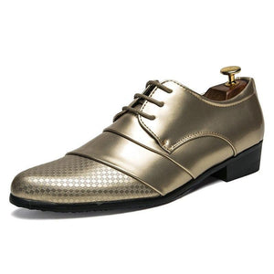 scomfortable mens dress shoes luxury brand italian gold male footwear formal patent leather woven skin derby oxford shoes for men