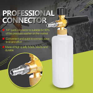 "Car-Styling Foam gun car wash Pressure Washer Jet Wash 1/4"" Quick Release Adjustable Snow Foam Lance Foam Cannon tools"