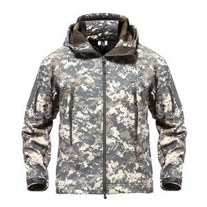 Shark Skin Military Jacket Men Softshell Waterpoof Camo Clothes Tactical Camouflage Army Hoody Jacket Male Winter Coat