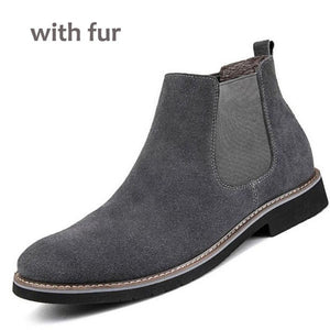 NEW Men Chelsea Boots Ankle Boots Fashion Men's Male Brand Leather Quality Slip Ons Motorcycle Man Warm With Free shipping