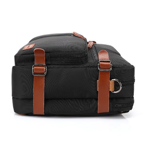 CoolBELL 17.3 Inch Convertible Backpack Messenger Bag Handbag Laptop Briefcase Multifunctional Travel Rucksack Fits Dell/Lenovo
