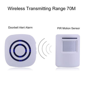 Professional Wireless Digital Doorbell with PIR Sensor Infrared Detector Induction Alarm Door Bell Home Security 2017 Brand New