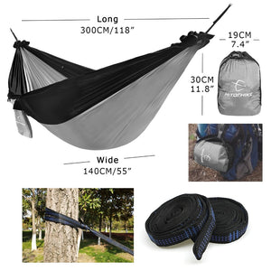 Hitorhike 1-2 Person Outdoor Mosquito Net Parachute Hammock Camping Hanging Sleeping Bed Swing Portable Double Chair Hammock