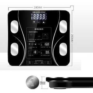 AIWILL Electronic Smart Weighing Scales Bathroom Body Fat bmi Scale Digital Human Weight Mi Scales Floor lcd display Health Gift