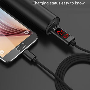 SeenDa USB Type C Phone Cable for iPhone Huawei Samsung Fast Charging USB Cable with LED Digital Display Mobile Phone Cable 1m