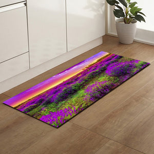 Carpet Purple Lavender Anti Slip Bath Mat Door Floor Tapetes Para Casa Sala