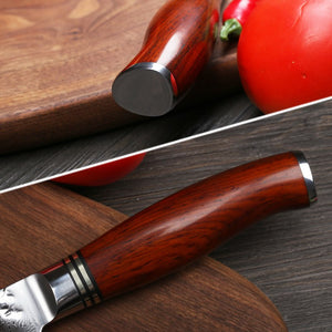 6 pcs kitchen knives set damascus steel chef knife sets with dalbergia wood handle Japanese VG10 knife best cooking knives set