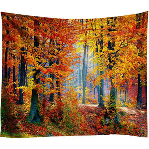 Beautiful Natural Forest Printed Large Wall Tapestry Cheap Hippie Wall Tapestries Mandala Wall Art Decor