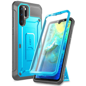 For Huawei P30 Pro Case (2019 Release)  Heavy Duty Full-Body Rugged Case with Built-in Screen Protector+Kickstand