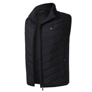 Electric Heated Vest Men&Women Heating Waistcoat Thermal Warm Clothing Feather  Winter Heated Jacket Hiking Vest