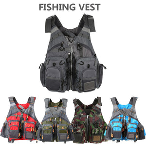 outdoor sport fishing vest men vest respiratory utility fish vest no foam