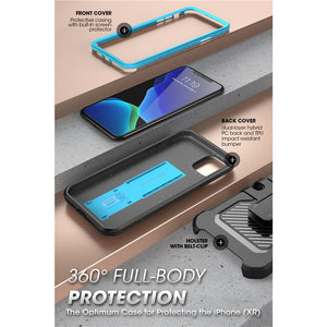 "For iPhone 11 Pro Max Case 6.5"" (2019) SUPCASE UB Pro Full-Body Rugged Holster Cover with Built-in Screen Protector & Kickstand"