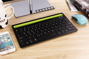 Portable Wireless Bluetooth Keyboard Mini Tablet Keyboard For iPad 2 3 4 Air 1 2 New 2017 2018 Pro 9.7 inch Mini 1 2 3 4 5 Stand