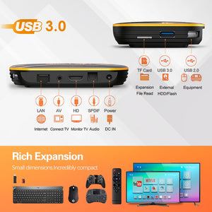 Presale 2020 VONTAR HK1 RBOX R1 TV Box Android 10 4GB 64GB Rockchip RK3318 1080p 4K Google Play  Set Top Box Android 10.0 TVBOX