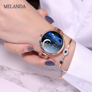 Melanda Fashion Women Smart Watch Waterproof Heart Rate Blood Pressure Monitor Smartwatch Gift For Ladies Watch Bracelet