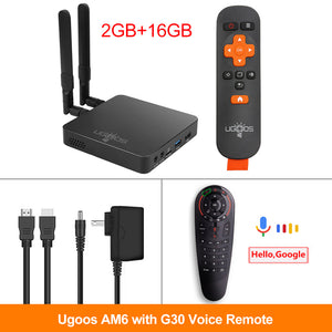 TV BOX Android 9.0 Amlogic S922X AM6 4K Media Player DDR4 4GB RAM 32GB ROM 2.4/5G WiFi 1000M LAN BT 2G16G OTA
