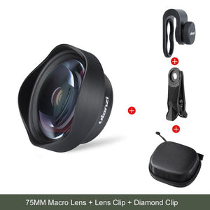 10X 75MM Macro Phone Camera Lens 17MM Thread Mobile Lens Clip On Lenses for iPhone 11 Pro Max Android 1.33X Anamorphic