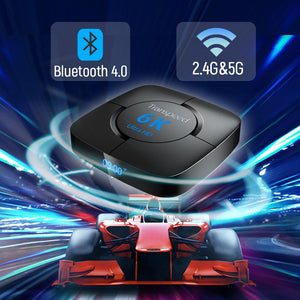 transpeed Android 9.0 Bluetooth TV Box Google Voice Assistant Youtube 6K 3D Wifi 2.4G&5.8G 4GB RAM 64G Play Store Top Box