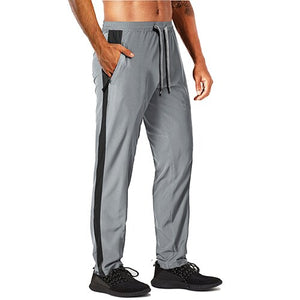 Summer Quick Dry Jogger Pants Men's Outdoor Athletic Lightweight Sweatpants Loose Fit Bodybuilding Fitness Gym Trousers