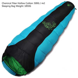 thickening fill four holes cotton sleeping bags outdoor camping mountaineering special camping  bag movement