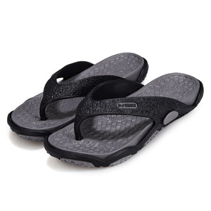 UPUPER Summer Outdoor Men's Slippers Beach Shoes Fashion Flip Flops Summer Shoes For Male Non-slip Bathroom Home Slippers