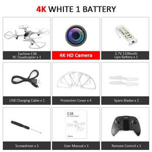 RC Drone 4K Camera WiFi FPV Optical Flow 1080P HD Dual Camera Aerial Video RC Quadcopter Toys