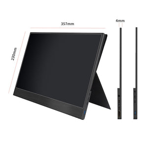 4K Touch 15.6 Portable Monitor,13.3 inch 3840 x2160 ultra slim IPS LCD display with HDMI Type C for Computer Laptop PS4