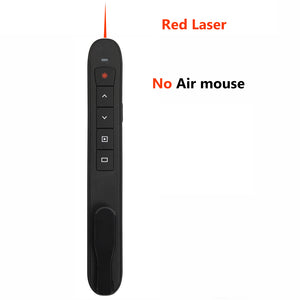 Rechargable 2.4G Wireless laser presentation Pointer with Air Mouse, PowerPoint Presenter Remote Control PPT Clicker Pen