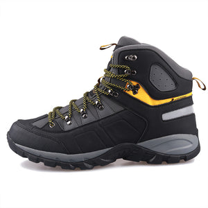 Men Waterproof Trekking Boots Lace up Mountain Climbing Shoes Non-slip Outdoor Winter Hiking Boots Large Size Shoes 2019