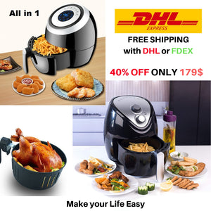 Air Fryer Intelligent Oilless 3.8L and 3.6L Automatic CHIPPER Household Air Fryer Multi-Function Oven NO Smoke Chips Nuggets Mozzarella Stick Maker