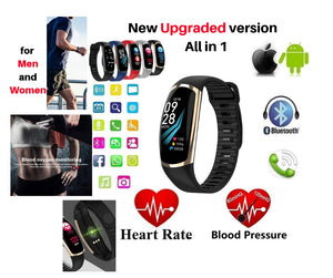 Smart Bracelet for Men and Women Android IOS Heart Rate, Sleep Monitor Blood Pressure Fitness Tracker Waterproof
