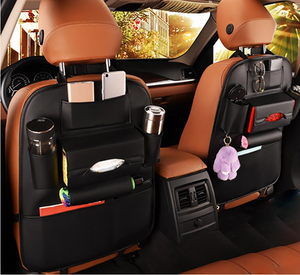 2019 Newest Car Seat Back Storage Bag Organizer Travel Box Pocket PU Leather Universal Stowing Tidying Protector Kids Drink Auto Accessoires