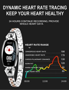 Luxury stainless steel smart watch bracelet heart rate monitoring multi-function