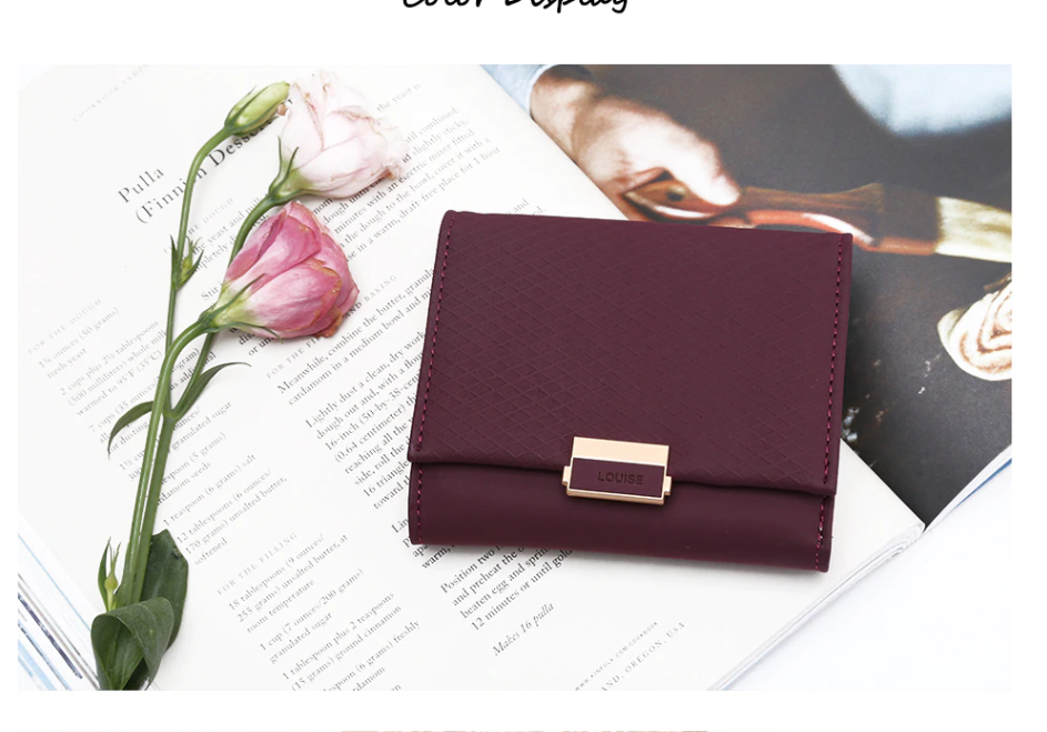 cffcce7a84f7 Luxury Louise Female Leather Women Purse Plaid Wallet Ladies Hot Change  Card Holder Coin Small Purses For Girls