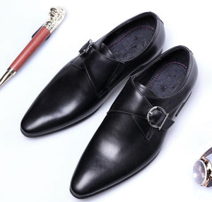 Newest Men's Leather Shoes Man Flat Classic Men Dress Shoes Leather Italian Formal Oxford Plus Size 38-48