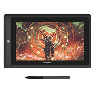 "Graphics Tablet Display for Drawing 15.6"" Full-Laminated IPS HD Screen with 8192 Levels Battery-Free Pen"