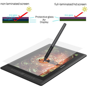 "GAOMON PD156PRO Graphics Tablet Display for Drawing 15.6"" Full-Laminated IPS HD Screen with 8192 Levels Battery-Free Pen"