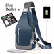 Men's Messenger bag shoulder Oxford cloth Chest Bags Crossbody Casual  Man USB charging Multifunction Handba