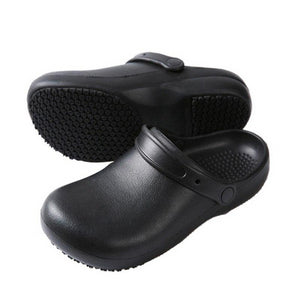 High Quality Non-slip Kitchen Work Shoes Oil-Proof Water-Proof for the Chef Master Cook Hotel Restaurant Slippers Sandals Flat