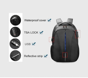 Backpack Anti Theft TSA lock USB Charge Port Waterproof Travel, School, Business Classic