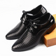 Newest Fashion Men's Lace-Up PU Leather Dress Business Office Shoes Mens Wedding Flats Man Casual Party Driving Oxfords