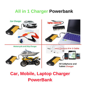 Newest Best Quality Car Portable JumpStarter 12V Car Engine Emergency Battery Fast Charge,High power mobile power supply