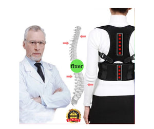 2 Pcs Magnetic Therapy Posture Corrector Brace Shoulder Back Support Belt for Men Women Braces Second Pcs is FREE Gift we send