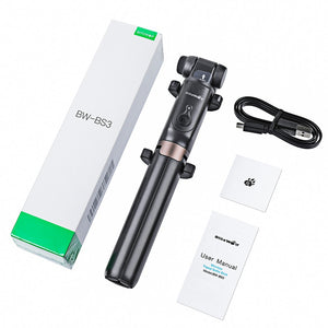 3 in 1 Selfie Stick Portable Phone Tripod Extendable Monopod + bluetooth Remote for iPhone X Smartphone Sports Camera