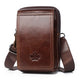 Men Bags Genuine Leather Waist Pack Shoulder Crossbody Bags CrossbMessenger Men Shoulder Bags Phone Pouch Male